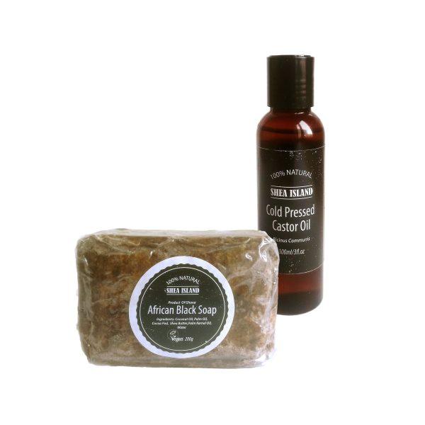 castor oil & black soap set