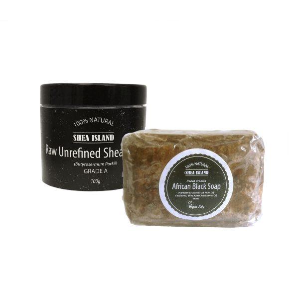black soap & shea butter set